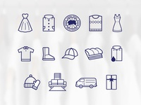 Dry-Cleaners Icon Set