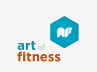 Simple logo for a friends fitness business