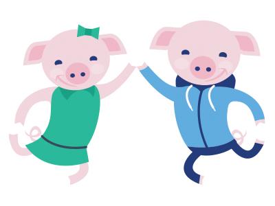Pig high 5