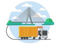 Bridge & Truck Coloured