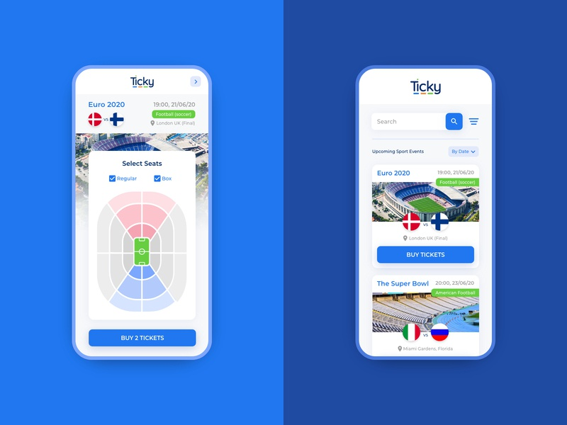 Ticky - High End Ticketing Machine ticket mobile app ui ux ticket booking app ticket app ticketing machine ticketing machine ticketing ui