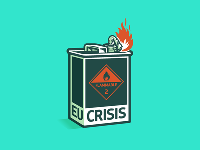 EU Crisis capitalism poverty unemployment youth angry rebellion resistance petrol canister money finacial crisis