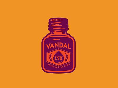 Ink design graphic illustration bottle vintage graffiti ink vandal