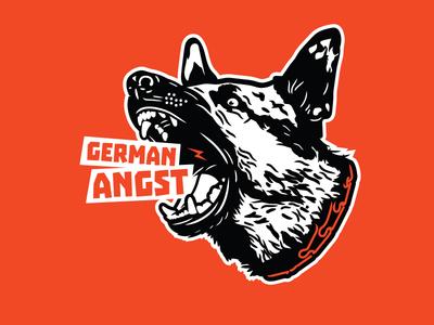 GERMAN ANGST rascism reactionary illustration fascism dog pegida germany