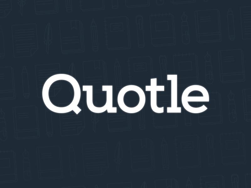 Quotle Logo icons text book pen iphone ios mobile app design logo