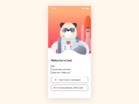 Panda stronaut onboarding