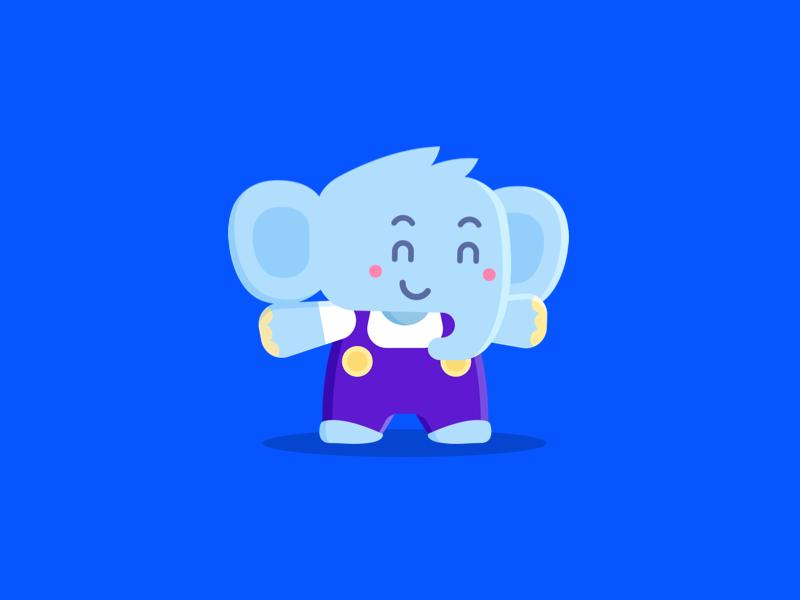 Jumbo Mascotte ios privacy logo illustration memory character animal elephant mascotte