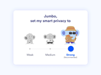 Smart Privacy Settings widget - Jumbo