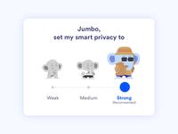 Smart Privacy Settings widget - Jumbo