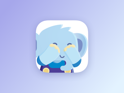 Jumbo Privacy icon hide and seek mascotte mascot overall elephant privacy app icon