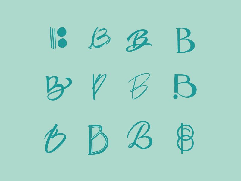 Letter B hand lettering letter b letters letter exploration sketch vector illustration