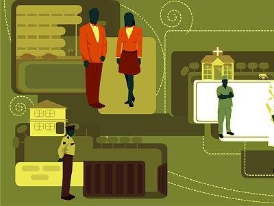 illustration for uniform manufacturing company branding art drawing design vector illustration
