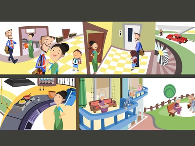 illstration for daily routine 03 concept art drawing vector sketch illustration