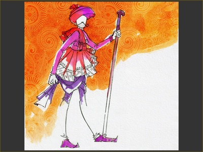 stylized inllustration 02 doodle art design drawing sketch illustration