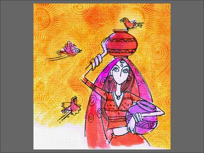stylized illustration 03 doodle art design drawing sketch illustration