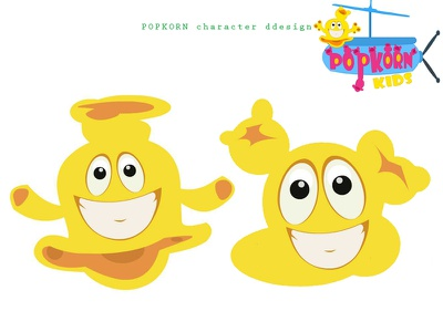 Popkorn Character Design logo vector drawing design concept illustration character designs