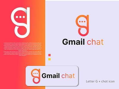 Gmail chat logo (G Letter Mark) app mark monogram business company g icon app logo creative identity design best logo logo concepts minimal colourful logo illustration design modern logo mark chat logo g logo branding logo graphic design