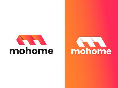 Mohome Logo (M Letter Mark) Real Estate Logo design m logo app logo mark monogram illustration colourful logo minimal identity design m letter mark creative business company real estate logo modern best logo logo mark logo graphic design branding