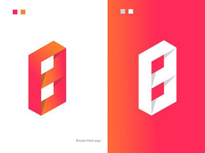 B Letter Mark logo (B icon) concept identity design logo concepts minimal business company b logo b app icon b icon b letter mark modern illustration creative colourful logo best logo logo mark branding graphic design