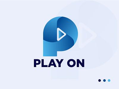 P Letter Mark logo (Play on) music logo logo agency identity design logo concepts minimal business company play on logo p icon p letter mark logo logo illustration design creative colourful logo best logo modern logo mark branding graphic design