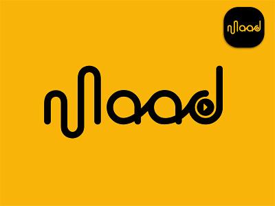Music show logo design (Maad) wave play video music record live streaming simple logo brand identity abstract minimal logo designer brand illustration creative colourful logo best logo logo mark graphic design branding