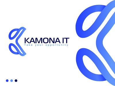 K letter logo (Kamona IT) technology logo it company logo simple software logo abstract minimal logotype app icon logodesigner logoinspirations k logo k icon k letter logo illustration creative colourful logo best logo logo mark graphic design branding