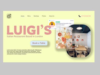 Luigi's Website design for home page ui web design typography graphic design design