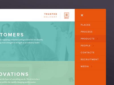 Faccenda Website website ui menu navigation interface web design flat