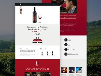 Rude Wines Product Page website web design ui product page shopping wine