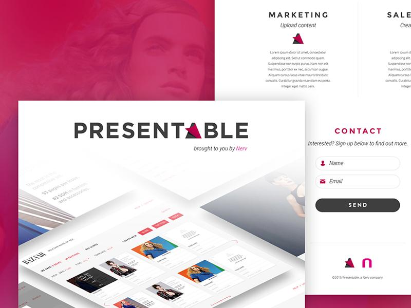 Presentable Landing Page web design landing page website mockup