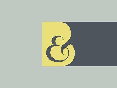 B& Identity identity ampersand b lettering logo typography