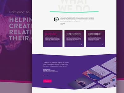 New Nerv Homepage slider responsive agency web design homepage
