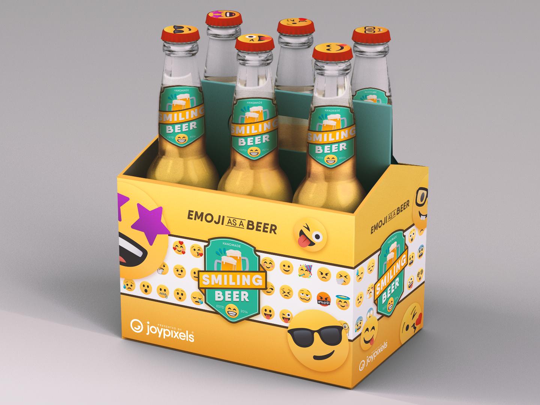 Emoji as a Beer beer branding packaging mockup packagingdesign mockup emoji concept