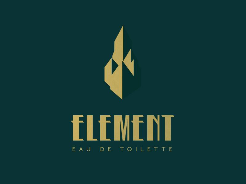 Element Logo foil fragrance branding packaging logo