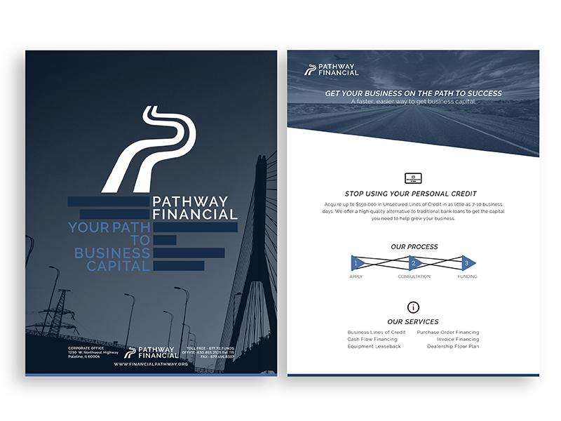 Pathway Financial Promo branding pamphlet promo
