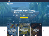 Tourism quick access activities mobile first - Desktop version