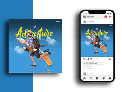 Social Media Poster Design   Adventure. md rashed adventure poster design modern banner design social media post design design poster design graphic design
