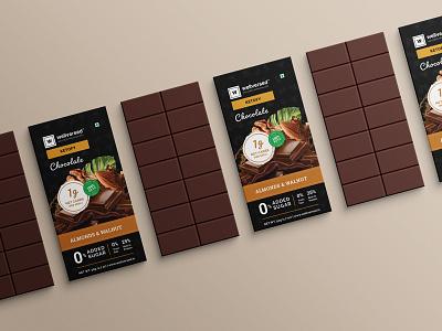 Chocolate cover box packaging design branding design