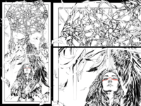 Dreamcatcher Illustration 1/3 Triptych