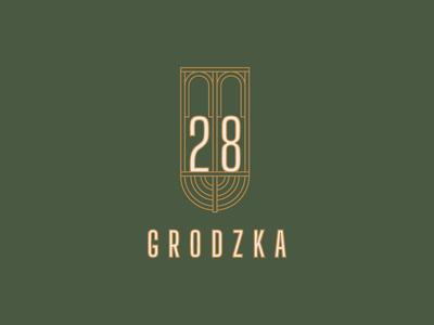 Grodzka 28 Apartments old city golden gate golden gate bridge green design logotype logo facade arcade luxury synagogue menorah apartment cracow