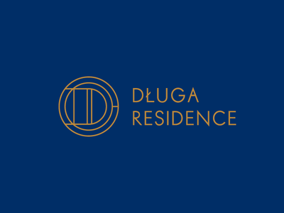 Długa Residence branding prestige gold luxury old city art deco realestate apartment monogram logo logotype logo