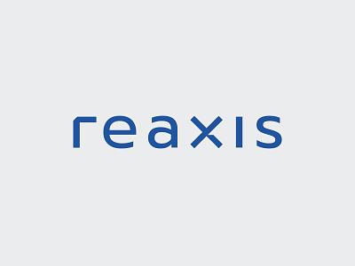 Reaxis logotype real estate logo realestate logotype blue axis