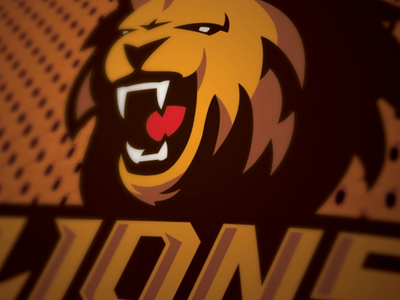 Gliwice Lions sport logo nfl lion orange plfa football roar