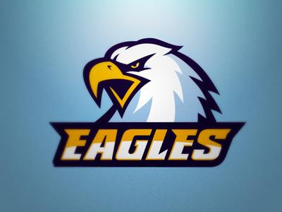 Warsaw Eagles logo sport nfl eagle eagles blue navy blue football american beak