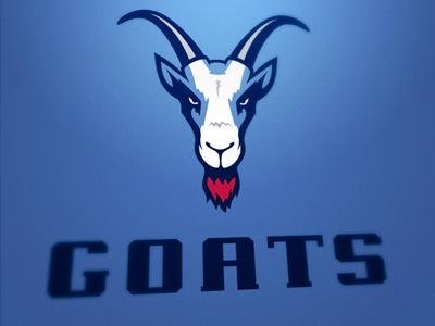 Poznań Goats logo sport goat poznań horn american football blue navy blue