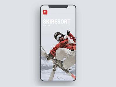 Ski Resort Finder search slope mountain snow ski resort alps sport gray winter sports winter ski flat animation mobile app iphone clean ios ux ui