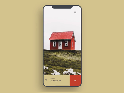 Rent Finder App Concept explore cluj browser search detail layout gold interaction luxury elegant geometric white animation mobile app iphone clean ios ux ui