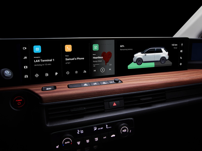 Android Automotive OS Animation Concept cluj minimal dark black music interior electric material design infotainment dashboard car honda android google material flat animation clean ux ui