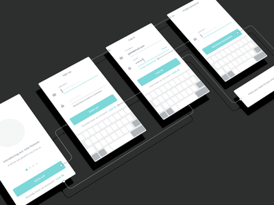 Authentication wireframes uxdesign ui ux ios prototype password onboarding tips flow up sign wireframe