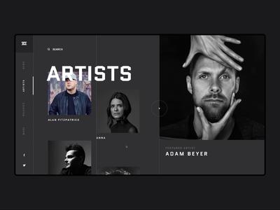 Drumcode Website Redesign Concept
